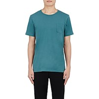 Solid And Striped Men's Patch Pocket T Shirt Turquoise