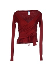 Trussardi Jeans Wrap Cardigans Brick Red