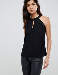 Vesper Key Hole Top Black