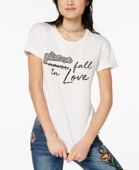 Almost Famous Juniors' Embellished T Shirt White