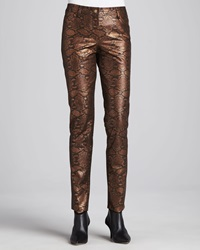 Berek Copper Reptile Print Pants Women's