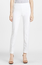 Michael Kors Skinny Stretch Cotton Twill Pants Optic White