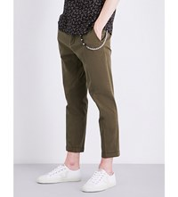The Kooples Slim Fit Tapered Stretch Cotton Trousers Kak01