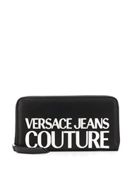Versace Jeans Couture Logo Embossed Faux Leather Wallet 60