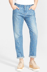Stella Mccartney 'Tomboy' Polka Dot Boyfriend Jeans Antique Gold