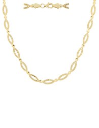 Lord And Taylor 14Kt. Yellow Gold Oval Link Necklace