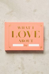 Anthropologie Fill In The Love Journal Pink