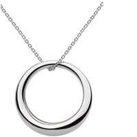 Kit Heath Sterling Silver Bevel Curve Ring Pendant Necklace Silver