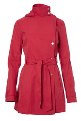 Covert Overt Stylish Cotton Hooded Jacket Red