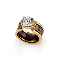 Doron Merdinger Black Engraved Ring In Ringgold 6