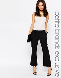 New Look Petite Tailored Flared Trouser Black
