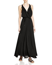 Kendall And Kylie Kendall Kylie Ruffle Wrap Maxi Dress Black