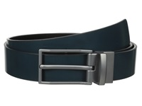 Calvin Klein 32Mm Reversible Flat Strap Spazz Leather To Smooth Navy Black Men's Belts Blue