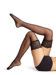 Wolford Thigh High Lace Tights Black