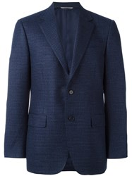 Canali Classic Fit Jacket Blue