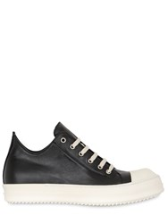 Rick Owens Two Tone Leather Sneakers