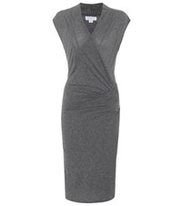 Velvet Omega Cotton Blend Dress Grey