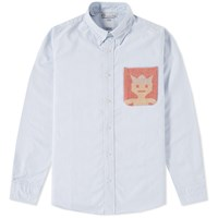 Visvim V V Native Blanket Pocket Shirt Blue