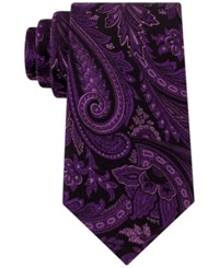 Sean John Men's Updated Paisley Tie Purple