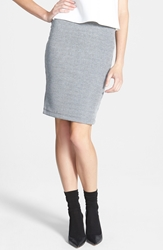 Sophie Rue Ribbed Body Con Skirt Grey