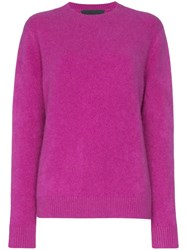 The Elder Statesman Simple Cashmere Sweater Pink