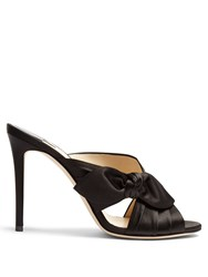 Jimmy Choo Keely 100Mm Side Bow Satin Mules Black