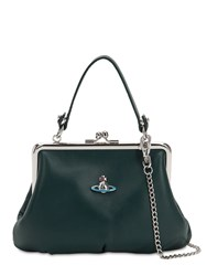 Vivienne Westwood Emma Soft Leather Top Handle Bag Green