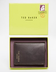 Ted Baker Zacks Bifold Leather Wallet Brown