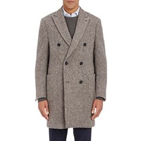 Aquascutum London Tweed Double Breasted Coat Brown