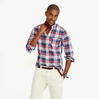 J.Crew Slim Indian Madras Shirt In Navy Ink