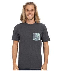 Hurley Floral Pocket Tee Heather Black Men's T Shirt