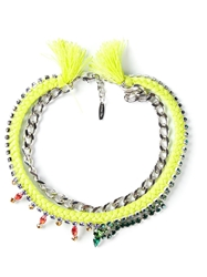 Joomi Lim Chain Braided Necklace Green