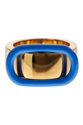 Marc By Marc Jacobs Enamel Buckle Up Ring Blue