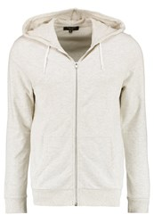 New Look Tracksuit Top Oatmeal Mottled Light Grey
