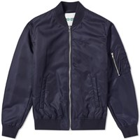 Kenzo Jumping Tiger Embroidered Ma 1 Jacket Blue