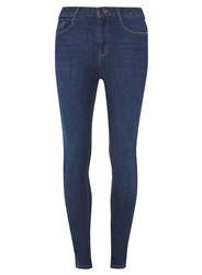 Dorothy Perkins Tall Mid Wash 'Shape And Lift' Skinny Jeans Blue