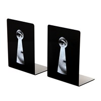 Fornasetti Serratura Bookends Black