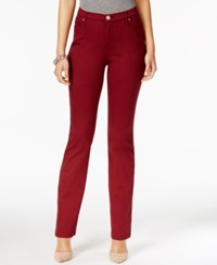 Lee Platinum Gwen Straight Leg Jeans Created For Macy's Cinnamon