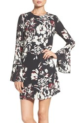 Ali And Jay Women's Bell Sleeve Floral Sheath Dress
