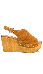 Seychelles Elated Wedge In Cognac. Cognac Suede