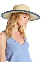 San Diego Hat Company Natural Ombre Floppy Blue