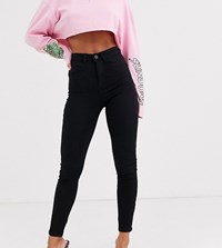 Noisy May Petite High Waist Skinny Jean Black