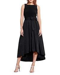 Ralph Lauren Petites Mixed Media Dress Black