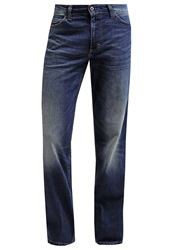 Mustang Tramper Straight Leg Jeans Tinted Rinsed Wash Light Blue