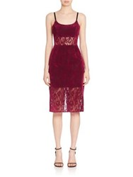 Abs By Allen Schwartz Sheer Panel Lace Sheath Dress Mulberry