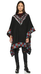 6 Shore Road Gypsy Embroidered Poncho Black Rock