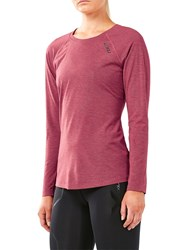2Xu Heat Long Sleeve Running Top Virtual Pink