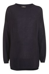 Topshop Maternity Crew Neck Jumper Navy Blue