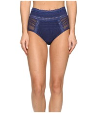 Becca Prairie Rose High Waist Bottom Dark Denim Women's Swimwear Navy
