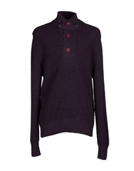 Blauer Turtlenecks Purple